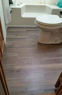 vinyl plank install bathroom
